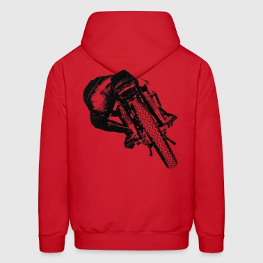 Cafe Racer rear view for light material - Men's Hoodie