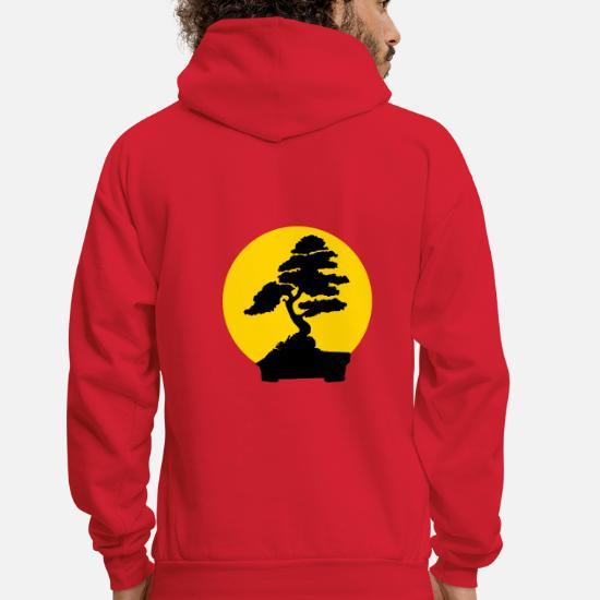 Karate Kid Bonsai Tree 2 Color Flex Mens Hoodie Spreadshirt