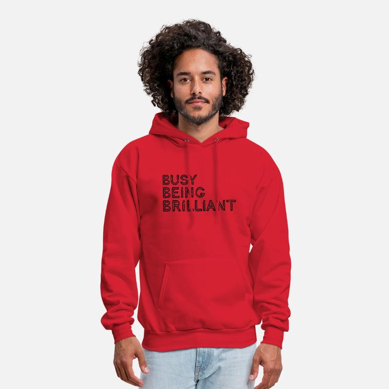 7604e4ddb32e Identic Hoodies   Sweatshirts - Busy Being Brilliant - Men s Hoodie red