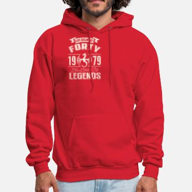 Life Begins At Forty 1979 The Birth Of Legends - Men's Hoodie
