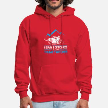 Bang I Bang Ditches Till My Thumb Twitches -Love Snowm - Men's Hoodie