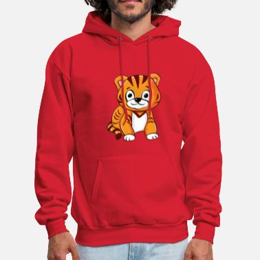 Kidz tiger comic draw kidz - Men's Hoodie