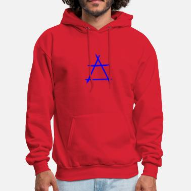 Element Alchemy symbol air blue - Men's Hoodie