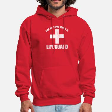 60cb11590e7 Baywatch IN LOVE WITH LIFEGUARD VINTAGE LOOK BAYWATCH - Men  39 s Hoodie. Men s  Hoodie