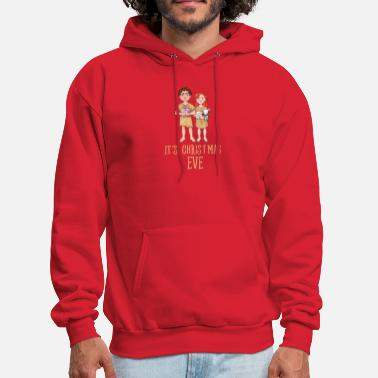 Adam And Eve It's Christmas Eve Adam And Eve Xmas Holiday Pun - Men's Hoodie