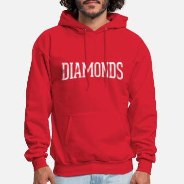White Lettered DIAMONDS - Men's Hoodie