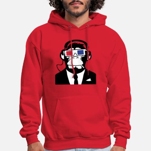 7352c77d64a2 3D Ape Monkey Club Electro Motive Headphones Men s Hoodie