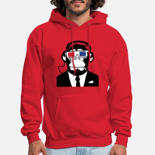 c49440765cd2 3D Ape Monkey Club Electro Motive Headphones Men s Hoodie