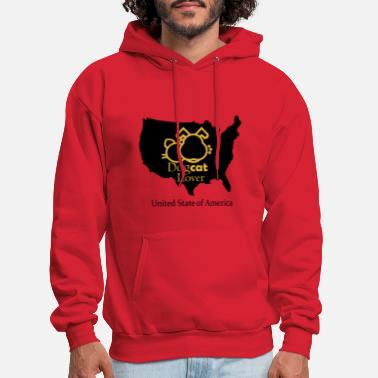 Usa USA dog cat lover - Men's Hoodie