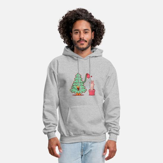 Funny Hoodies & Sweatshirts - Tree watering its human - Men's Hoodie heather gray