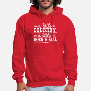 A Little Country A Little Country a Little Rock and Roll - Men's Hoodie