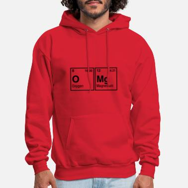 Elements Of The Periodic Table OMg written with Elements of the Periodic Table - Men's Hoodie