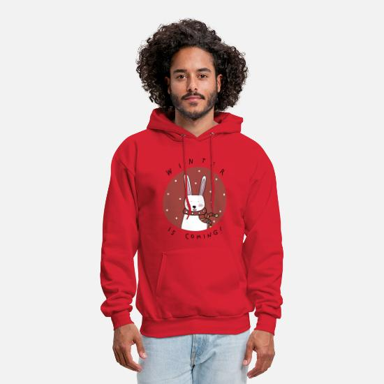 Winter Hoodies & Sweatshirts - christmas winter - Men's Hoodie red