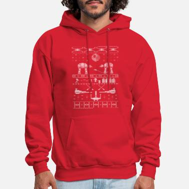 Christmas Star Wars X-Mas Sweater Satire - Men's Hoodie