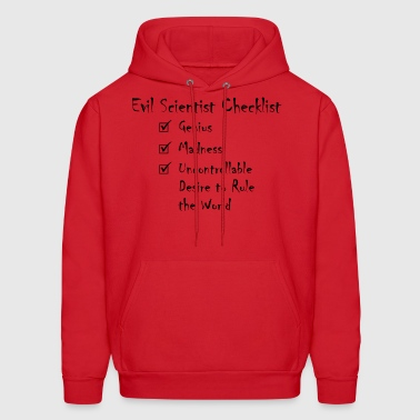 Evil Scientist Checklist - Men's Hoodie
