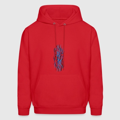 abstract blue curves - Men's Hoodie