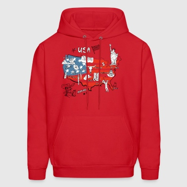 Usa map - Men's Hoodie