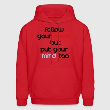Brain VS Heart by SonRumui - Men's Hoodie