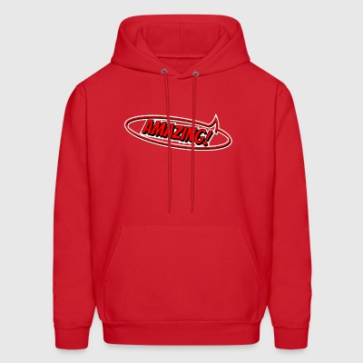 amazing comic style speech bubble red me I'm - Men's Hoodie