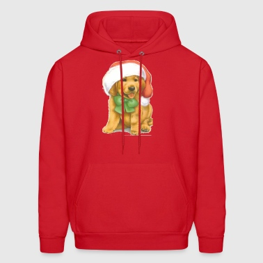 Golden Retriever Puppy Christmas Shirt - Men's Hoodie