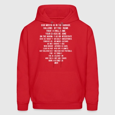 Funny Mustang Car Lords Prayer - Men's Hoodie