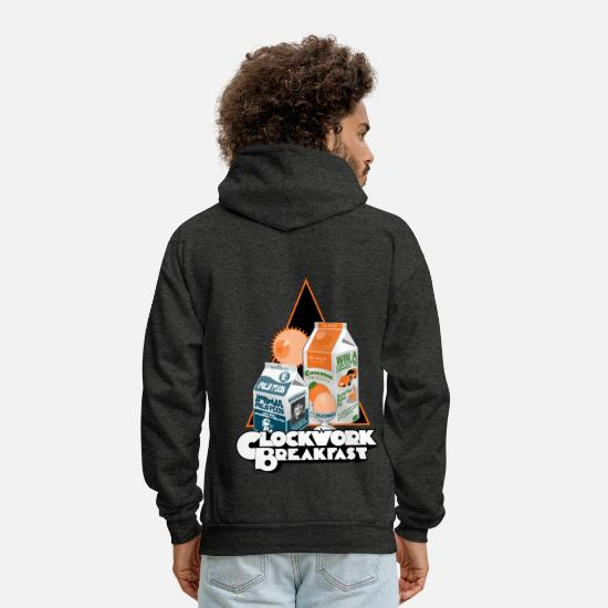 Funny Hoodies & Sweatshirts - Clockwork Breakfast - Men's Hoodie charcoal gray