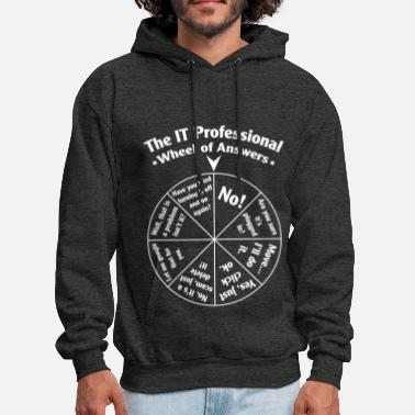 Professional The IT Professional Wheel of Answers. - Men's Hoodie