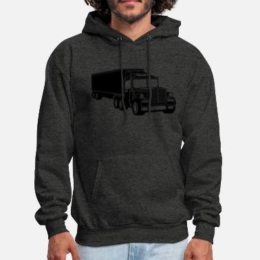Logo black cool logo eat sleep drive repeat truck truck - Men's Hoodie