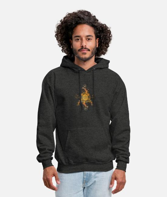 Design Hoodies & Sweatshirts - Floral Design - Men's Hoodie charcoal gray