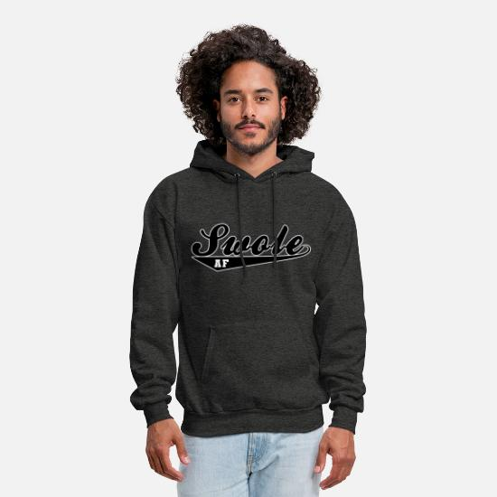 Big Hoodies & Sweatshirts - Swole AF - Men's Hoodie charcoal gray