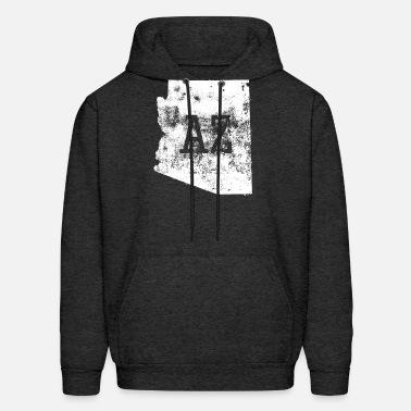 Fashion Arizona Map Cotton Sweatshirt for Mens Mens Hooded Sweatshirt