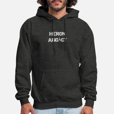 Bird Puns Bird Heron Addict Birding Bird Pun Copy - Men's Hoodie