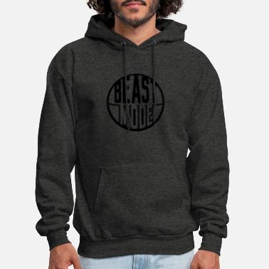 Turn On sticker round circle design logo monster mode on s - Men's Hoodie