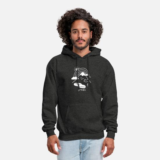 Vintage Hoodies & Sweatshirts - The Great Outdoors - Men's Hoodie charcoal gray