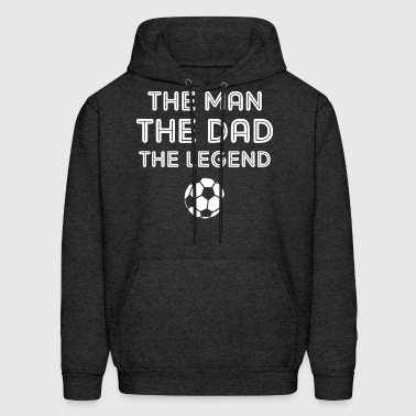Legendary Soccer Dad WHT - Men's Hoodie