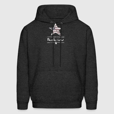 isis no terrorism proud usa flagg war anti Demo lo - Men's Hoodie