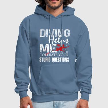 Scuba Diving Helps Me Shirt - Men's Hoodie
