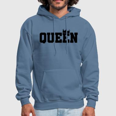 King And Queen Couple Queen-King And Queen-Matching Couple - Men's Hoodie