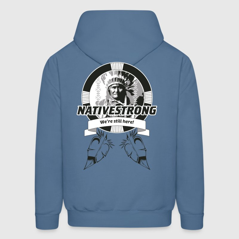 Native Strong, Native Pride, Chief, Medicine Wheel - Men's Hoodie