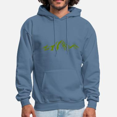 Scenery Mountain scenery / Mountains green - Men's Hoodie