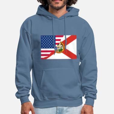 USA Florida Flag Two in One - Men's Hoodie