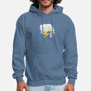 Thunderstorm Thunderstorm | Storm weather with lightning Rainy - Men's Hoodie