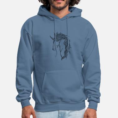 Mythical Creature A mythical Unicorn - Men's Hoodie