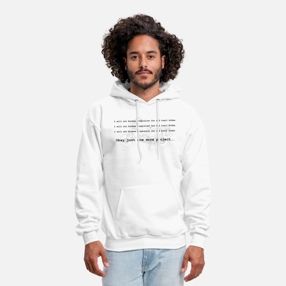 Done Browsing Craigslist for Trail Bikes Men's Hoodie - white