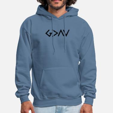 God God Is Greater Than The Highs and Lows Christian - Men's Hoodie
