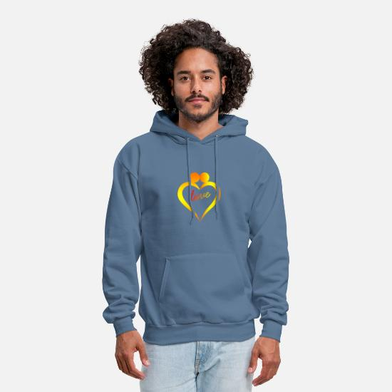Love Hoodies & Sweatshirts - loving heart - Men's Hoodie denim blue