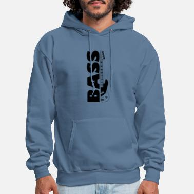 Bass Half bass guitar and the word bass on the side - Men's Hoodie