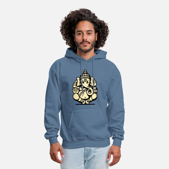 Buddhism Hoodies & Sweatshirts - Ganesh Ganesa Ganapati 04_2c - Men's Hoodie denim blue