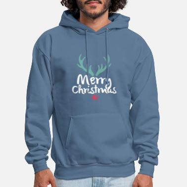 Merry Christmas Reindeer - Men's Hoodie