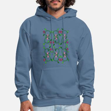 Tendril Pattern Flower tendril - Men's Hoodie